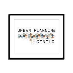 Urban Planning Genius Framed Panel Print