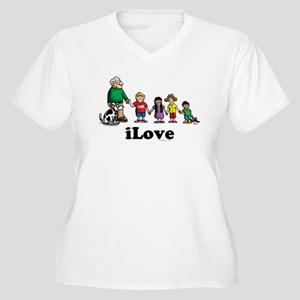 iLove-kids Women's Plus Size V-Neck T-Shirt