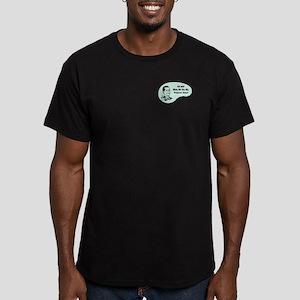 Professor Voice Men's Fitted T-Shirt (dark)