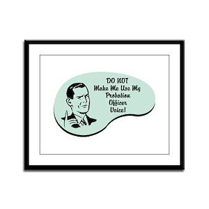 Probation Officer Voice Framed Panel Print
