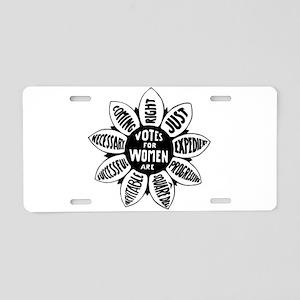 Votes For Women Historical Aluminum License Plate