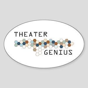 Theater Genius Oval Sticker