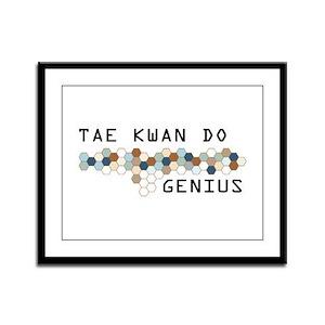 Tae Kwan Do Genius Framed Panel Print