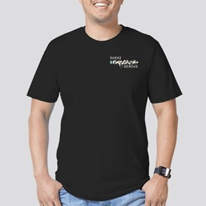 Sushi Genius Men's Fitted T-Shirt (dark)