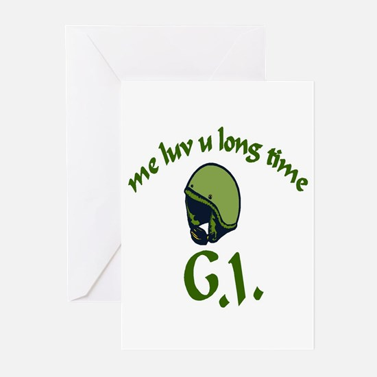 ME LUV U LONG TIME Greeting Cards (Pk of 10)