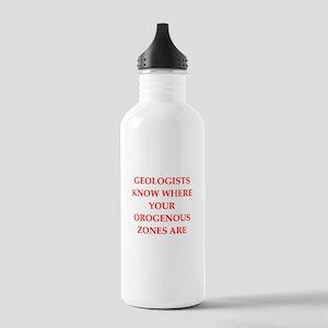 Geology joke Water Bottle