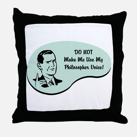 Philosopher Voice Throw Pillow