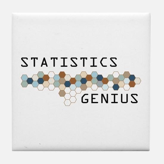 Statistics Genius Tile Coaster