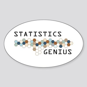 Statistics Genius Oval Sticker