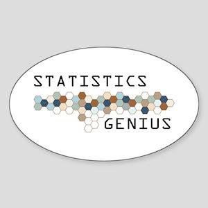 Statistics Genius Oval Sticker