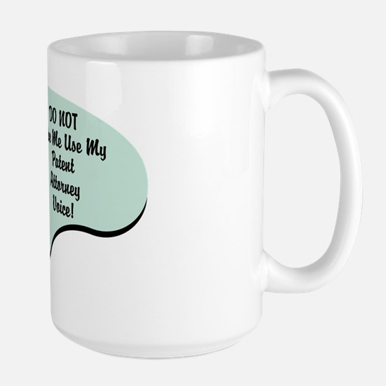 Patent Attorney Voice Large Mug