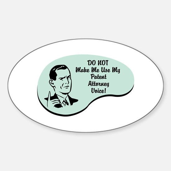 Patent Attorney Voice Oval Decal