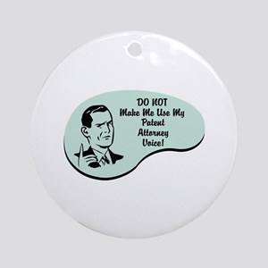 Patent Attorney Voice Ornament (Round)