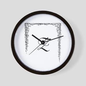 Monogram Z Wall Clock