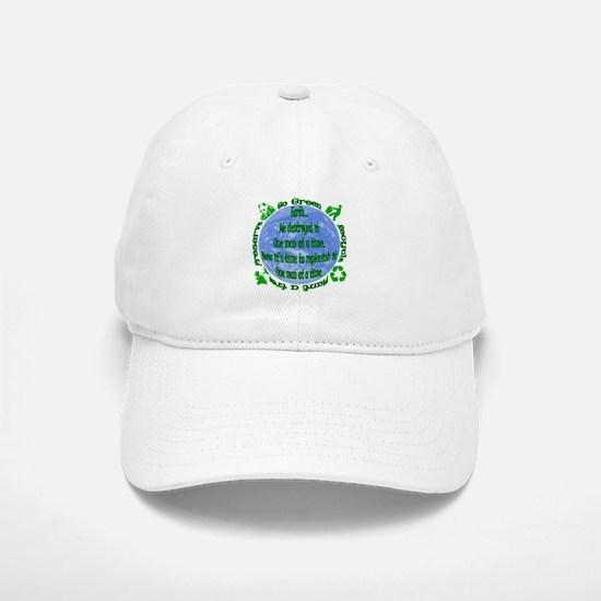 Go Green Baseball Baseball Cap
