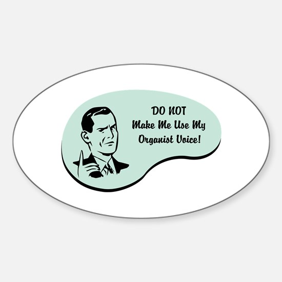 Organist Voice Oval Decal