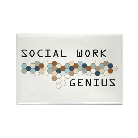 Social Work Genius Rectangle Magnet (10 pack)