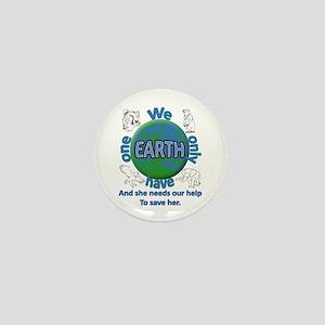 One Earth Mini Button