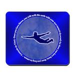 Blue Leonardo da Vinci Mousepad