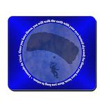 Skydiving Blue Leonardo da Vinci Mousepad