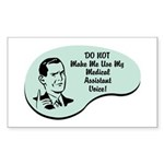 Medical Assistant Voice Rectangle Sticker