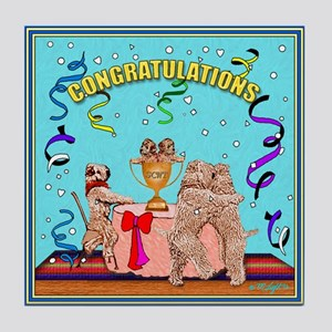 CONGRATULATIONS Wheaten Tile Coaster