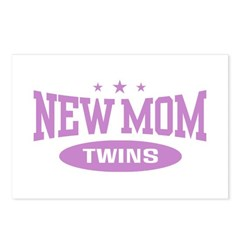 New Mom Twins Postcards (Package of 8)