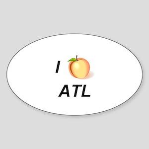I Peach ATL Oval Sticker