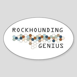 Rockhounding Genius Oval Sticker