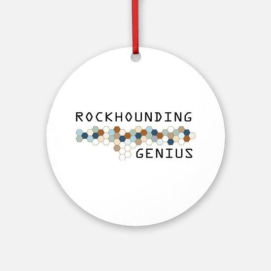 Rockhounding Genius Ornament (Round)
