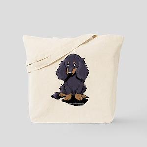 LH Black/Tan Doxie Tote Bag