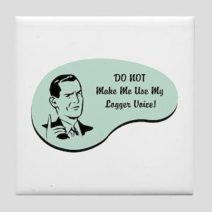 Logger Voice Tile Coaster