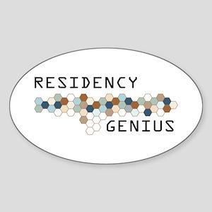 Residency Genius Oval Sticker