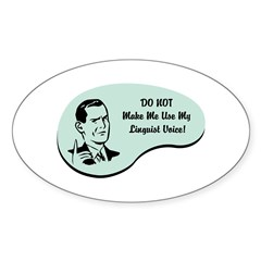 Linguist Voice Oval Decal