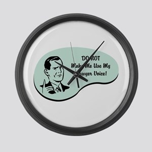 Lawyer Voice Large Wall Clock