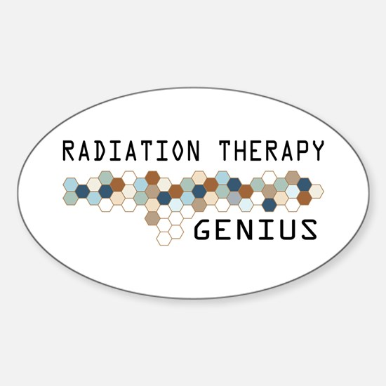 Radiation Therapy Genius Oval Decal