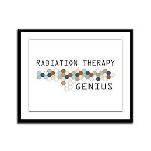 Radiation Therapy Genius Framed Panel Print