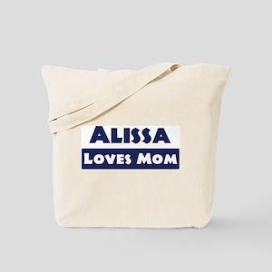 Alissa Loves Mom Tote Bag