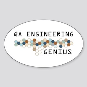 QA Engineering Genius Oval Sticker