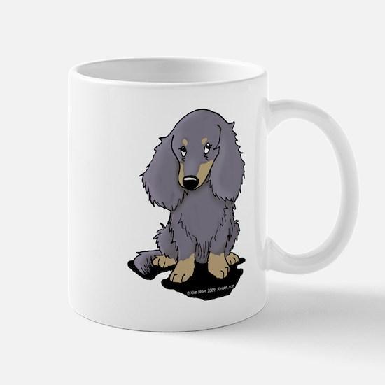 Blue/Cream LH Doxie Mug