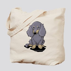 Blue/Cream LH Doxie Tote Bag