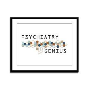 Psychiatry Genius Framed Panel Print