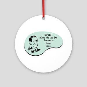 Insurance Agent Voice Ornament (Round)