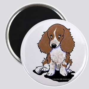 """Red Piebald LH Doxie 2.25"""" Magnet (10 pack)"""