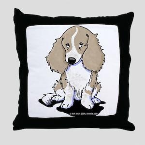 Isabella Piebald LH Doxie Throw Pillow