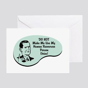 Human Resources Person Voice Greeting Card