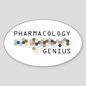 Pharmacology Genius Oval Sticker