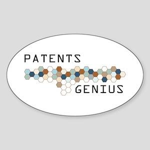 Patents Genius Oval Sticker