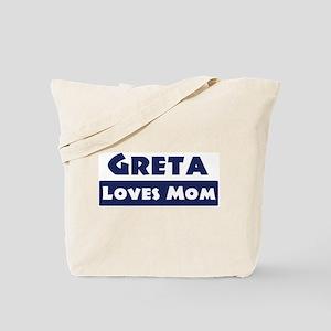 Greta Loves Mom Tote Bag
