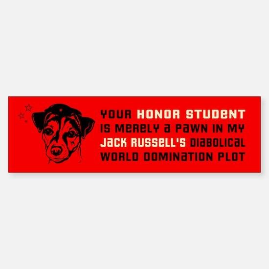 Jack Russell Terrier Honor Student Bumper Bumper Sticker